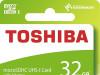 Toshiba 32GB M203 MicroSDHC Class 10 U1 100 MB/s