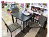 Vrtna garnitura stol 90x90cm   4 stolice