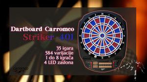 PIKADO Dartboard Carromco Striker 401 + set 6 strelica