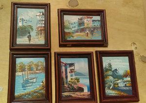 Slike minijature ulje na speri 5 kom