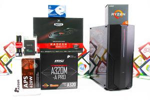 Gaming PC Iron 10; R5 2600; RX 580; 120GB SSD; 8GB DDR4